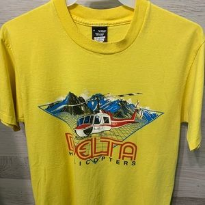 Delta Helicopters Printed Tee